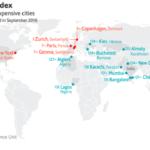 Cost of Living(生活費)が高い国地域ランキング2017〜The Economist 調べ〜