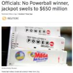 米宝くじパワーボール賞金額は6億5,000万ドルに(約708億円)!