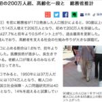 敬老の日!90歳以上人口が初めて200万人を突破!(高齢者の定義変更は間近??)